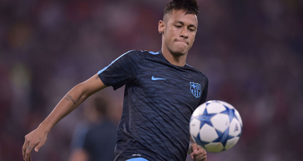 Foto Alfredo Falcone - LaPresse 16/09/2015 Roma ( Italia) Sport Calcio Roma - Barcellona Uefa Champions League 2015 2016 Girone E - Stadio Olimpico di Roma Nella foto:neymar Photo Alfredo Falcone - LaPresse 16/09/2015 Roma (Italy) Sport Soccer Roma - Barcellona Uefa Champions League 2015 2016 Group E - Olimpico Stadium of Roma In the pic:neymar